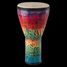 "Remo Festival Series 10"" Djembe with Pretuned Fiberskyn 3 Head in Rainbow Finish"