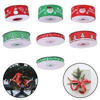 Xmas Happy Merry Christmas Ribbons Snowflakes Grosgrain Ribbon Gifts Wrapping