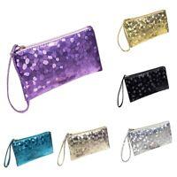 Women Lady Sequins Evening Party Clutch Purse Bag Handbag Sparkling Bling Wallet