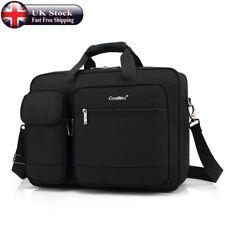 17 Inch Laptop Bag Backpack Rucksack Messenger Bag Multi-Function Carry Case UK