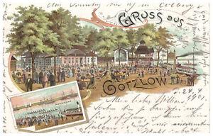 alte AK Litho Gruss aus Gotzlow  Frauendorf Stettin 1901 Westpommern Polen