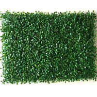 Artificial Plant Foliage Hedge Grass Mat Greenery Panel Decor Wall Fence 50*50cm
