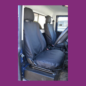 Land Rover Defender 2007-2015 Black Waterproof Tailored Front Pair Seat Covers