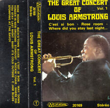 """K 7 AUDIO (TAPE) LOUIS ARMSTRONG """"THE GREAT CONCERT"""""""