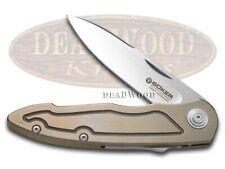 Boker Albero Marca Merlin per Slide Blocco Coltello Titanio Manico Tasca 110521