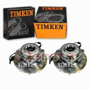 2 pc Timken Rear Wheel Bearing Hub Assembly for 2013-2018 Ford Escape in