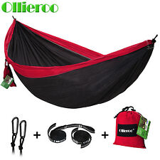 Ollieroo Double Camping Hammock Portable Nylon Fabric Travel Outdoor Backpacking