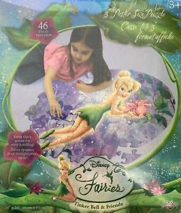 NEW DISNEY FAIRIES TINKER BELL & FRIENDS 3 POSTER SIZE 46 PCSPUZZLE  22423