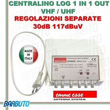 CENTRALINO TV LOG 1 IN 1 OUT VHF / UHF REG. SEPARATE 30dB 117dBmV EMMESSE 82462L