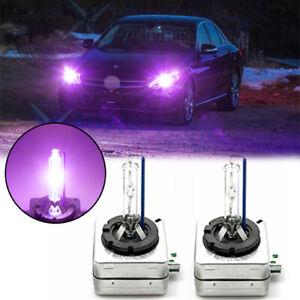 Pair 2x D3S 12000K Ultra Purple Factory OEM HID Xenon Headlight Lamp Light Bulbs