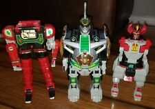 Lot 3 vtg Bandai Original 1993 Mighty Morphin Power Rangers Dragonzord Megazord