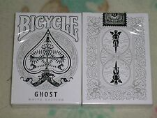 1 DECK Bicycle Ghost Legacy Playing Cards by Ellusionist - White Edition S102969