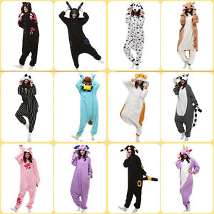 New Design Kigurumi Unisex Fleece Animal Costume Pajamas Cosplay Playsuit One