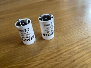 2 x Fluorescent Starters 4 to 80w 220-240V Tube Strip Light  FS U FSU UK SELLER