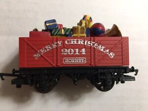 OO  Hornby Christmas 2014 7 Plank wagon suit HO Thomas series