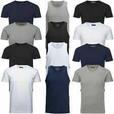 Jack & Jones Herren T-Shirt Basic V-Neck O-Neck Tee, Tank Top UVP 12,95€
