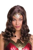 Justice League Wonder Woman Adult Womens Brown Costume Wig