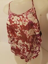 Under Armour Print Sport Womens Workout Vest Pink Exercise Gym Training Tank Top