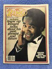 THE RING BOXING VINTAGE MAGAZINE SUGAR RAY LEONARD September 1983 MINT UNREAD