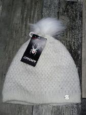 SPYDER Donna Bianco Beanie Hat Cap a maglia inverno Headwear # Nuovo di Zecca