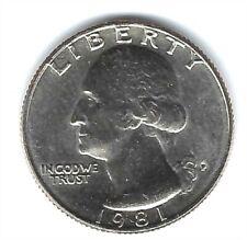 1981-P Philadelphia Uncirculated Washington Quarter Coin!