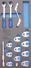 BGS 4049 1/3 Werkstattwageneinlage: Hahnenfußschlüssel und Offene Ringschlüssel,