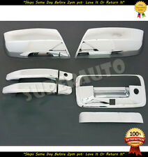 FOR 2014-2018 CHEVROLET-SILVERADO-GMC-SIERRA CHROME MIRROR+2DR HANDLE+TAILGATES