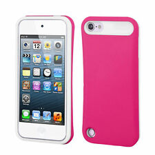 For iPod Touch 5th 6th 7th Gen - Pink Card Pocket Hidden Wallet Soft Rubber Case