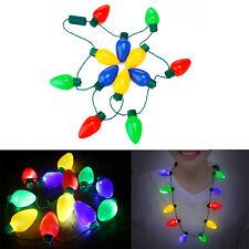LED Christmas Lights Necklace Light Up Bulb for Wedding Party Celebration Lamp C