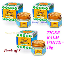 3 x TIGER BALM WHITE 21ML - Relief from Headaches, Stuffy Nose - Best Price