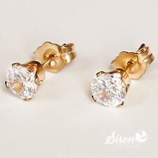Zirkonia Brilliantschliff Ohrstecker  5mm ygf 14k Gold 585 Ohrringe  aus USA