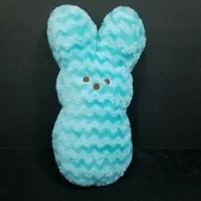 Easter Peeps Marshmallow Candy Bunny Blue Wavy Zig Zag Fur Plush Stuffed Toy