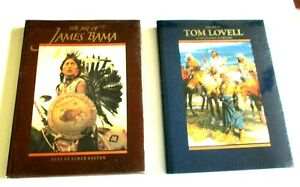 LOT OF 2 BOOKS THE ART OF JAMES BAMA & ART OF TOM LOVELL COWBOYS INDIANS & MORE
