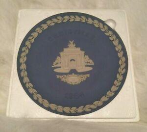 Vintage Wedgewood 1984 Jasperware Blue Christmas Plate. Constitutional Hill