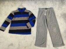 Boy's The Children's Place Fleece Shirt & Gray Fleece Pants Size Medium 7-8