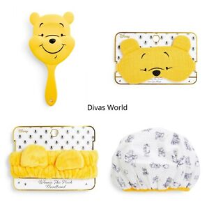 Disney Winnie The Pooh Paddle Hair Brush Headband Eyemask & Shower Cap Primark