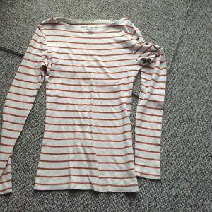F&F white striped top size  10