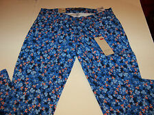 LEVI 524 STRETCH TOO SUPERLOW SKINNY LEG JEANS JR SZ 11 M-FLORAL PATTERN- NWT