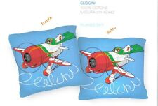 Cuscino Decorativo D'arredo Planes Aeroplano Sky Azzurro Disney Caleffi