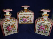 ANTIQUE HAND PAINTED SEVRES  VANITY SET FOR OVINGTON NEW YORK