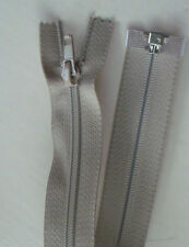 "30"" / 75cm open endZip with twin pull slider - Beige"