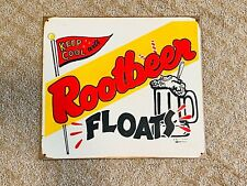 Old Vtg Martin D Mummert Advertising Sign Keep It Cool With Rootbeer Floats