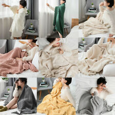 Knitted Blanket Throw Thread Sofa Bed Blanket Thick Home Office 9 Color