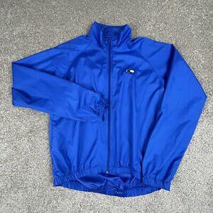 Canari Cycling Full Zip Windbreaker Jacket Men's Medium Blue Long Sleeve