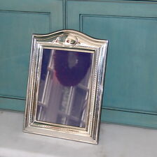 "Sterling Silver Mounted Wood Backed Dome Top Photo Frame 9"" x 7"" Vertical"