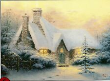 "Thomas Kinkade ""Christmas Tree Cottage"" Boxless Puzzle Snow Winter *NEW*"