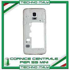 cornice middle frame Samsung S5 Mini G800F centrale cover telaio BIANCO NERO