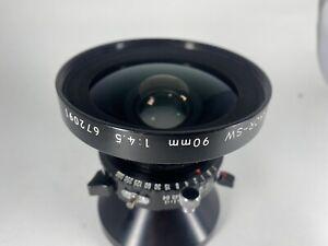 ::READ::NIKON NIKKOR -SW 90mm f/4.5 Lens Copal 0 Shutter EX+  LARGE FORMAT USA.