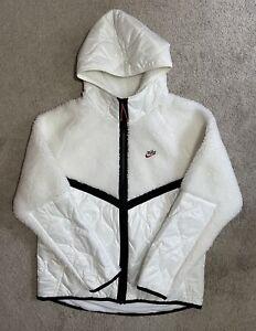 Nike Sportswear Heritage Thermore Sherpa White Jacket CU4446-121 Men's Sz Large