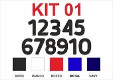 Kit 10 Numeri Termosaldabili per maglie Calcio, Pallavolo, Basket, Pallamano
